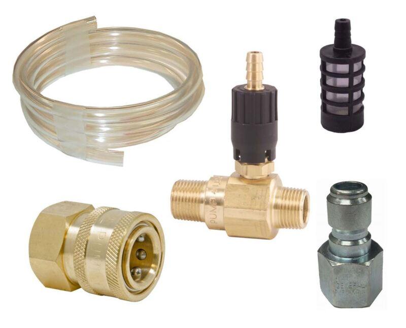 GP 20% Adjustable Acid Chemical Injector QC Kit # 1.8 for Pressure Washer