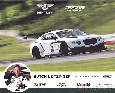 2014 Butch Leitzinger Dyson Racing Bentley Continental GT3 SCCA PWC postcard
