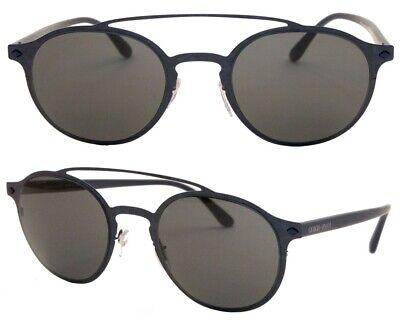 Giorgio Armani Damen Herren Sonnenbrille AR6041 3170/87 49 mm rund blau F CK1 H