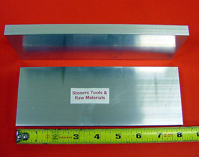 2 Pieces 58 X 4 Aluminum 6061 Flat Bar 8 Long Solid T6 Plate New Mill Stock