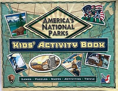 Kids Activity Book America's National Parks, travel book for kids, games, (Usa Info For Kids)