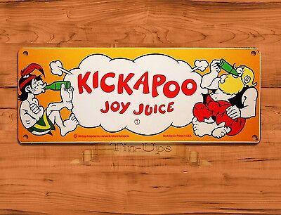 "TIN SIGN ""Kickapoo Joy Juice"" Cola Soda Kitchen Rustic Wall Decor"