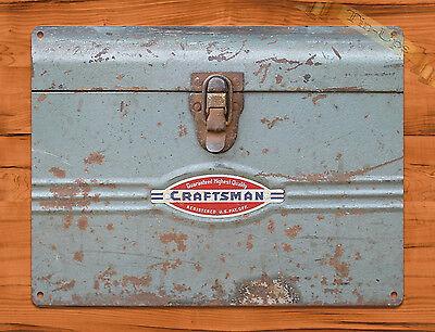 "TIN SIGN ""Craftsman Toolbox"" Tools Vintage Garage Rustic Wall Decor"