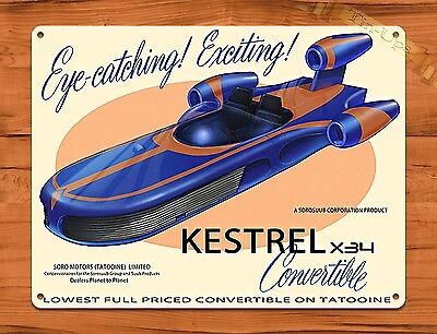 Tin Sign Star Wars Kestrel X34 Convertible Disney  Art Painting Movie Poster