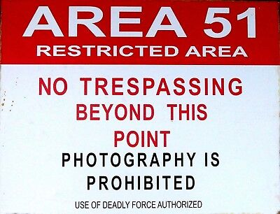 Tin Sign  Area 51  Deco Garage Wall Decor