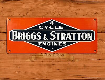 "TIN SIGN ""Briggs & Stratton 4 Cycle"" Garage Engine Rustic Wall Decor"