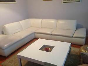 White italian leather couch, c/table,TV unit & bedroom furniture Endeavour Hills Casey Area Preview