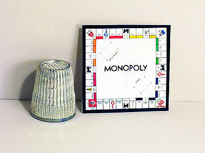 Dollhouse Miniature 1 12 Monopoly Game 1950s Retro Dollhouse Boy Girl Game Toy - $6.99