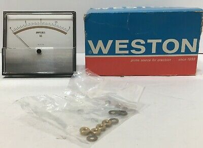 Weston Panel Mount Meter 0-2a Dc New Old Stock Face Approx. 4 X 4.5 With Box
