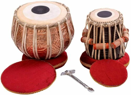 Tabla Drum Set by SAI Musicals, Professional, 2.5 Kg Copper Bayan - Designer