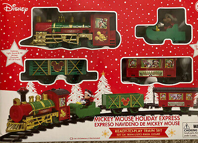 DISNEY MICKEY MOUSE HOLIDAY EXPRESS 12 PC CHRISTMAS TRAIN SET NEW