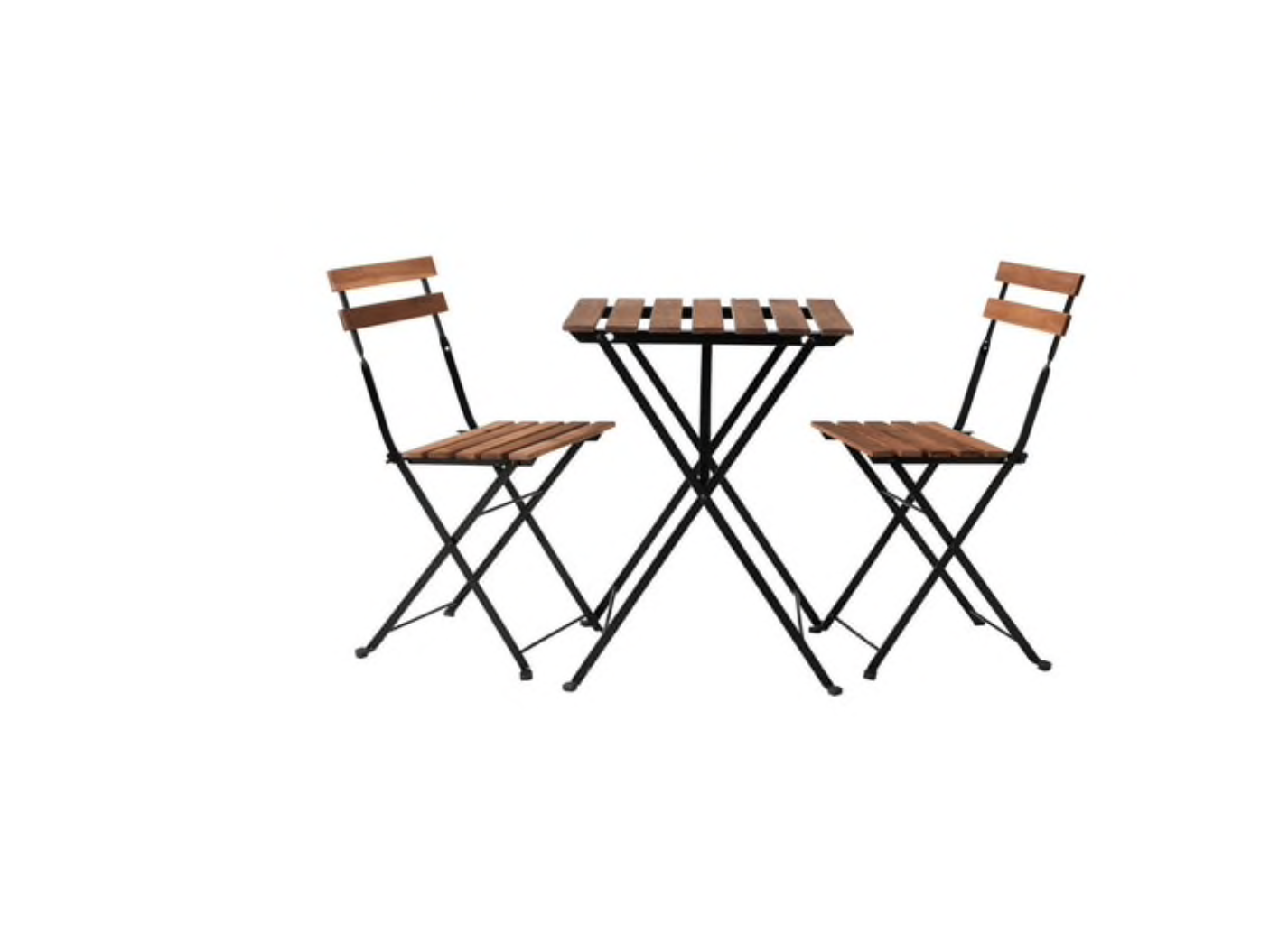 Garden Furniture - IKEA TRANO 3 PIECE FOLDING METAL OUTDOOR GARDEN PATIO FURNITURE TABLE & CHAIRS
