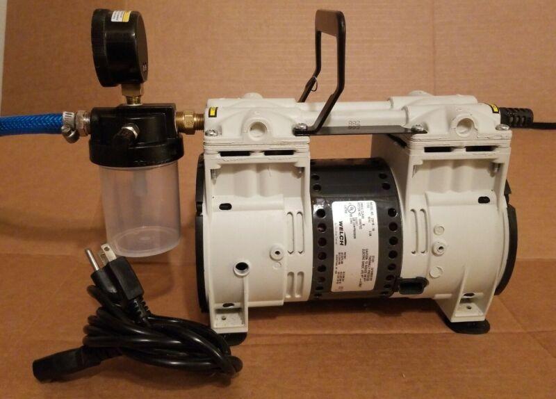 WELCH 2561B-50 Piston Vacuum Pump Good Condition!