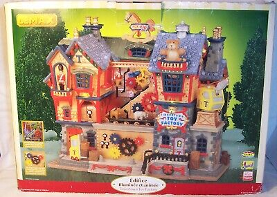 Lemax TINKERTOWN TOY FACTORY Music LED Lights Animated Dept Carole WORKS *AS-IS*