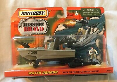 Matchbox Mission Bravo Water Dragon Boat Model 32870 New Sealed From 1998 -As Is
