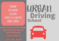 Urban Driving School - Call Now for our $45 Promo! few openings