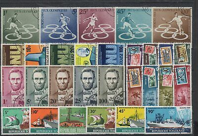 S-458 TOGO 1963-65 Five (5) complete sets (Postage and Air Post)  Fine used CTO
