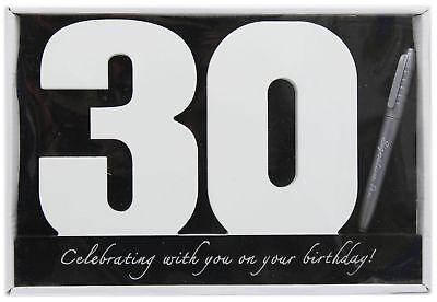 Wooden Birthday Signature Plaque ~ Happy 30Th Birthday Gift