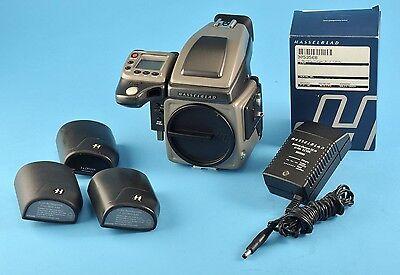 Hasselblad H1 Medium Format Body 3-Batt grips, charger, prism Excellent NR