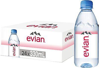 Evian Natural Mineral Water Bottles, 24 x 330 ml-AU