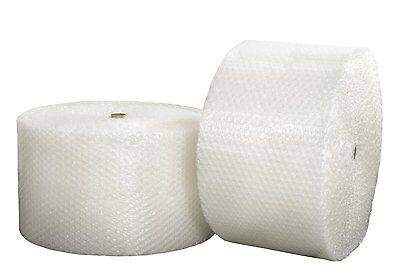 """ZV 1//2/"""" x 12/"""" x 500/' 500FT Large Clear Bubble Padding Cushioning Wrap Roll"""