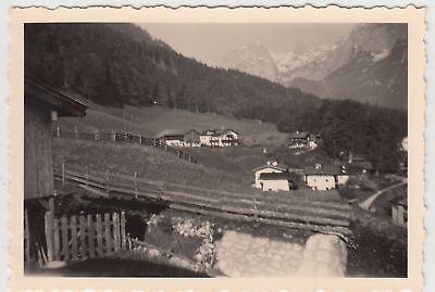 (F20864) Orig. Foto Reiteralpe, Blick aus Pension 1956