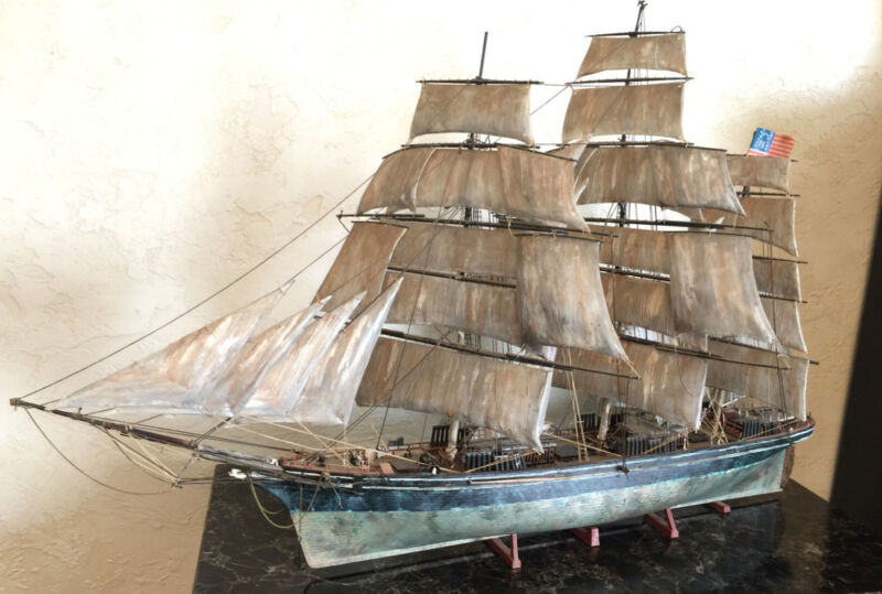 Vintage Model Ship (with Realistic Rustic Look)