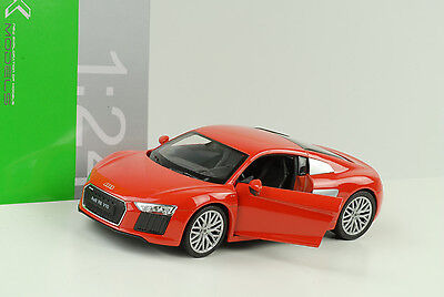 2016 Audi R8 V10 Orange Rouge 1:24 Welly for sale  Shipping to Canada
