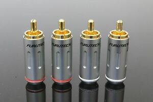 Genuine 4pc FURUTECH FP-162(G) FP-162 RCA Connector Male Plug Japan