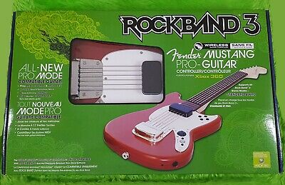 xbox 360 ROCK BAND 3 FENDER MUSTANG WIRELESS PRO GUITAR Controller *NEW*