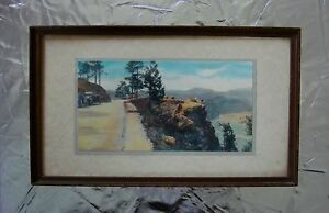 Antique Hand Tinted DENVER Autochrome Photo, signed (HL) Standley WildCat Point