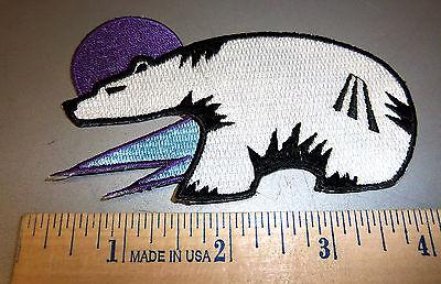 Polar Bear Patch - Polar Bear (stylized)  iron on embroidered patch - beautiful! ships worldwide