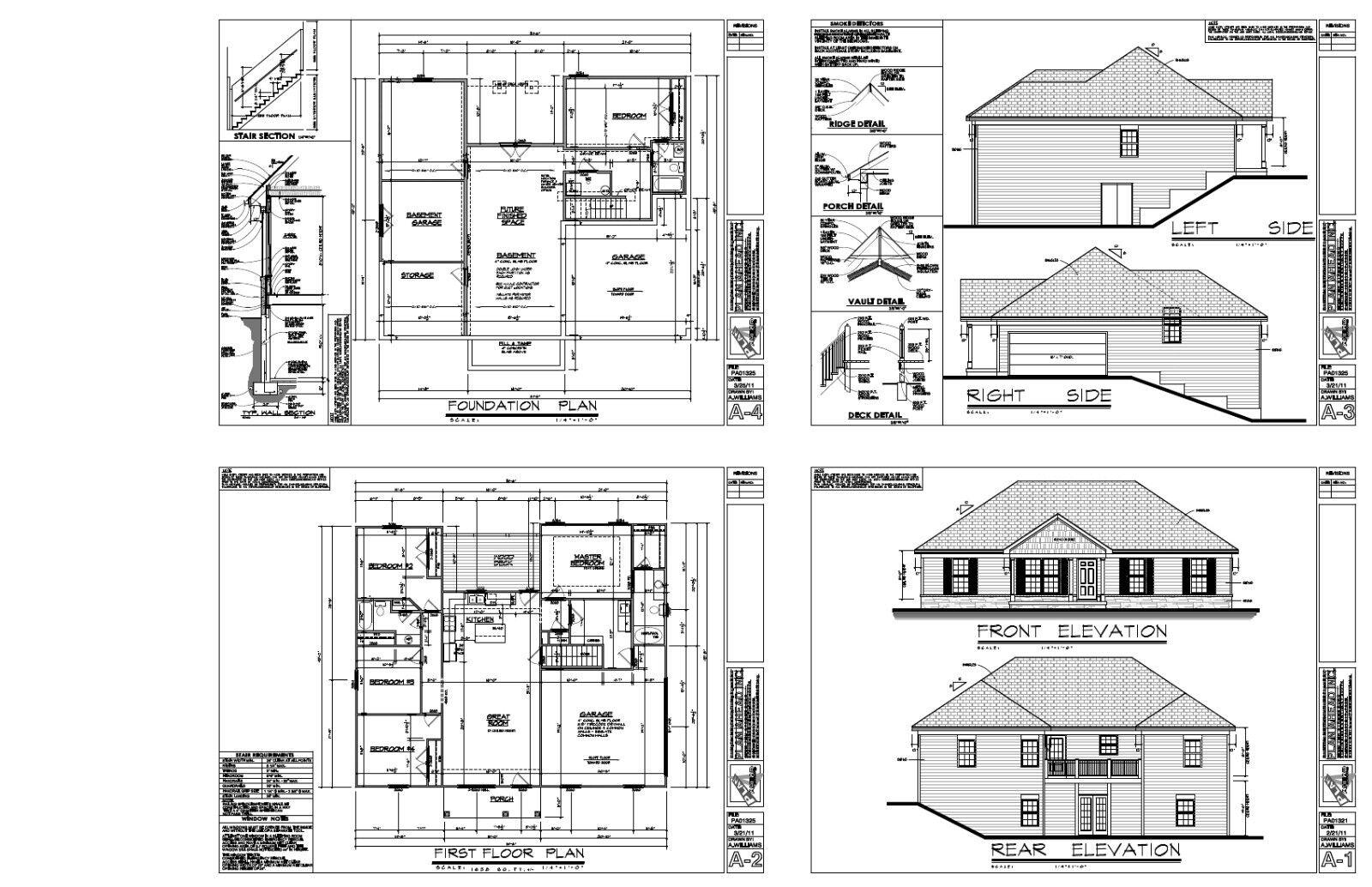 1638sf ranch house plan w garage on basement for Garage basement house plans