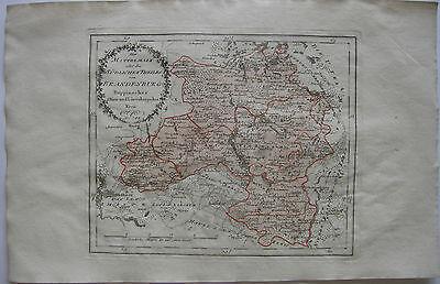 Brandenburg Mittelmark südlicher Theil  Kolor Kupferstich Karte Reilly 1791
