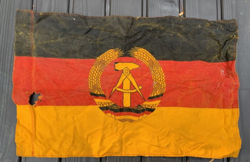 Early True Vintage ORIGINAL East Germany National Communist Flag