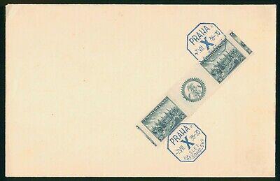 Mayfairstamps Czechoslovakia 1938 Industrial Buildings Block Cover wwo_57991