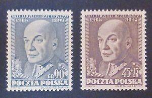 POLAND-STAMPS MNH Fi588-89 Sc537+B65 Mi726-27-Gen.Swierczewski,1952,clean,Słania - <span itemprop=availableAtOrFrom>Reda, Polska</span> - POLAND-STAMPS MNH Fi588-89 Sc537+B65 Mi726-27-Gen.Swierczewski,1952,clean,Słania - Reda, Polska