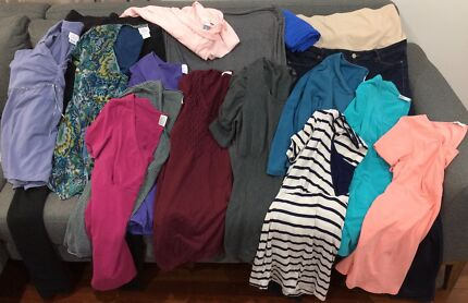 Maternity Bundle, Sizes 14-16 - Tops, incl Feeding, Jeans, Skirts