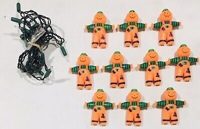 Kmart Scarecrow 10 Light Halloween Blowmold 6' String Set Indoor Outdoor NO BOX