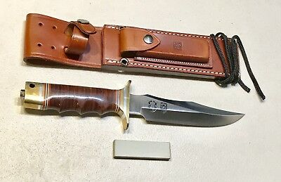 Vintage 1980' Al Mar Seki Japan Fighting Dagger Knife Sheath Mint