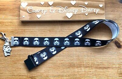 Star Wars Storm Trooper ID Badge Annual Pass Ticket Holder Pin Trading Lanyard