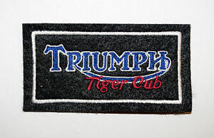 CLASSIC TRIUMPH TIGER CUB EMBROIDERED MOTORCYCLE PATCH