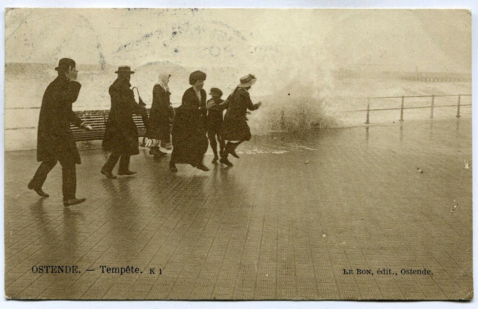 CPA - Carte Postale - Belgique - Ostende - Tempête - 1912 (M7425)