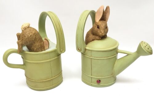 Michel & Co Beatrix Potter Bunny Watering Can Bookends NEW