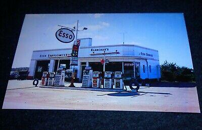 Klanchar's Esso Gas Station, Irwin Pennsylvania Vintage Roadside Postcard