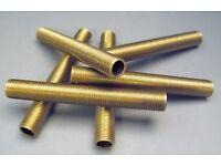 """SOLID BRASS NIPPLE TUBING 3//8/"""" od  3 1//2/"""" LONG HOBBY MODEL LAMP REPAIR"""