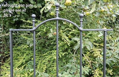 wrought iron gate single low bow  . . .