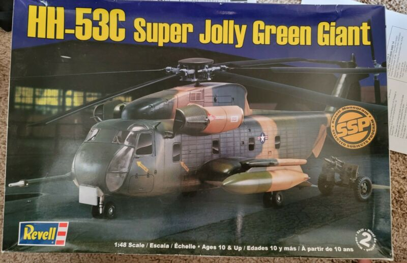 OLDER REVELL HH-53C SUPER JOLLY GREEN GIANT HELICOPTER FROM 2010 - 1/48 SCALE