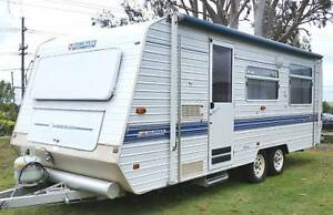 1998 HALLMARK CARAVAN 20ft, FULL ANNEXE, SINGLE BEDS, HOT WATER Deception Bay Caboolture Area Preview