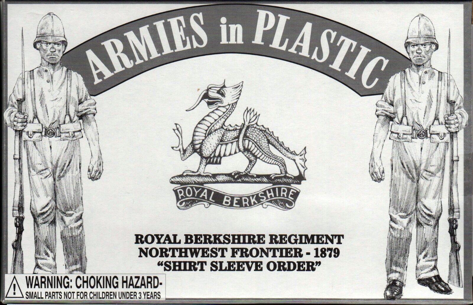 Armies in Plastic Northwest Frontier Berkshire Regt Shirt Sleeve 1/32 Scale 54mm